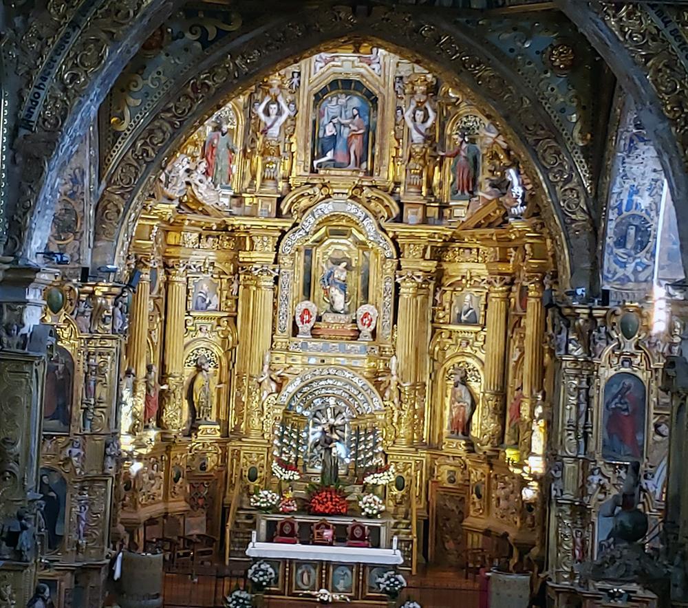 gilded altar Church of San Francisco